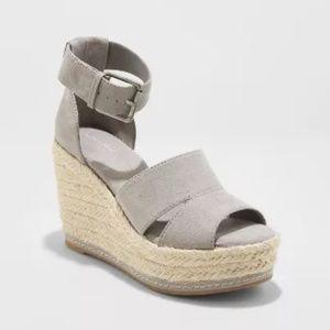 Women's Caroline Microsuede Ankle Strap Espadrille